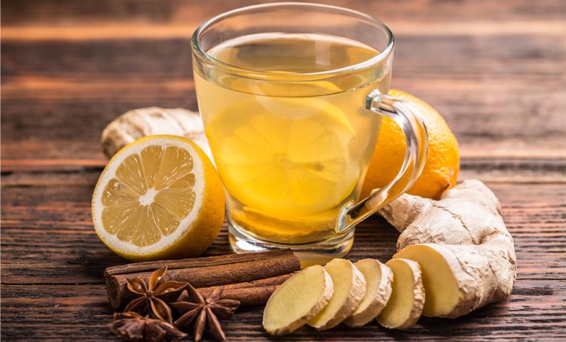 trà gừng uống giảm đau bao tử